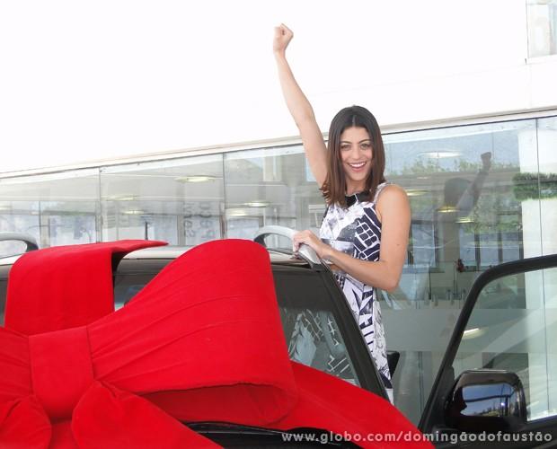 Carol Castro vencedora do Dança dos Famosos 2013 (Foto: TV Globo/ Domingão)