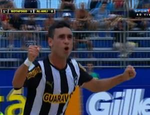 Be Martins comemora o primeiro gol diante do Al-Ahli no Mundialito de Clubes (Foto: Frame SporTV)