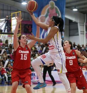 Brasil x Canada final Copa América sub-16 basquete Izabela Leite (Foto: Divulgação / Fiba)