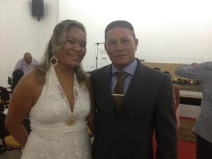 Casal Lizandra Oliveira e José de Carvalho (Foto: Aline Paiva/G1)