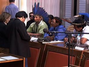 Índios e produtores não chegam a acordo após reunião com CNJ em MS (Foto: Reprodução/TV Morena)