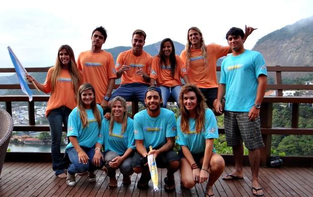 Nas Ondas do Rio equipes (Foto: Breno Dines / GLOBOESPORTE.COM)