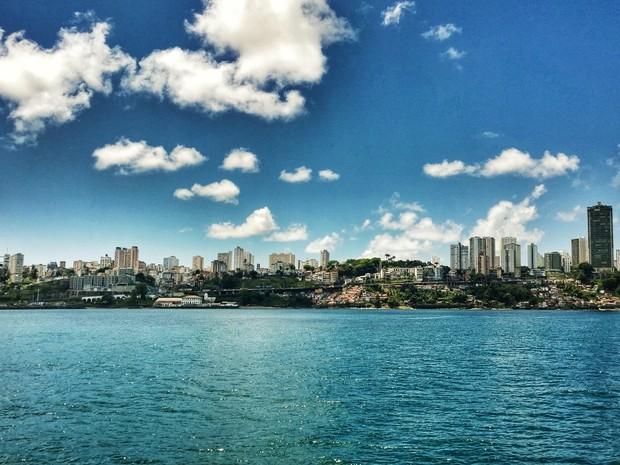 Baía de Todos-os-Santos (Foto: Ruan Melo/G1)