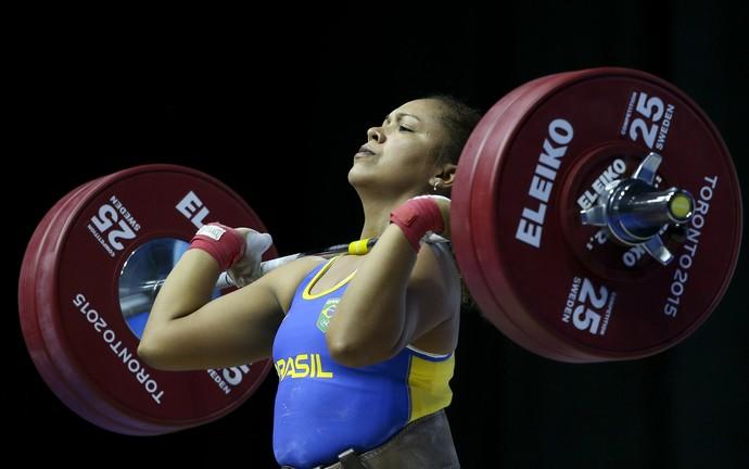 Jaqueline Ferreira  levantamento de peso Pan-Americano (Foto: Washington Alves/Exemplus/COB)