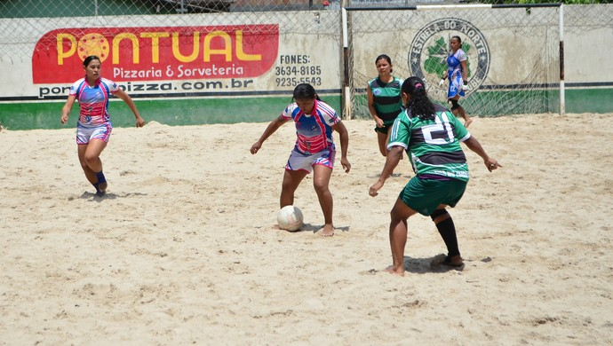 manaus, amazonas, bech soccer feminino, unidas do são josé, tricolor (Foto: Emanuel Mendes Siqueira)