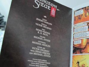 Número da Dungeon Siege, da Darkhorse, em que aparece o nome do santista (Foto: Lincoln Chaves/G1)
