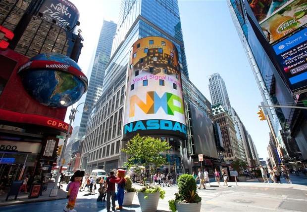 Logo da NXP Semiconductors é visto em NY (Foto: Divulgação)