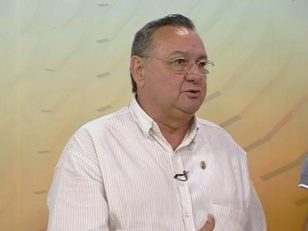 Locutor esportivo Marcos Antônio Silvestre (Foto: TV Morena)