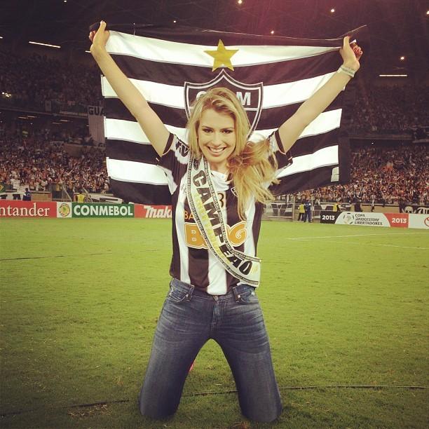 Ex-BBB Fernanda no estádio do Mineirão, em Belo Horizonte, Minas Gerais (Foto: Instagram/ Reprodução)
