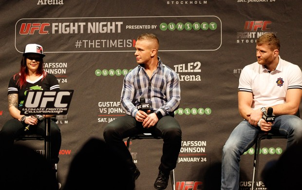 Joanna Calderwood, Nick Hein e Jan Blachowicz, UFC na Europa (Foto: Adriano Albuquerque)