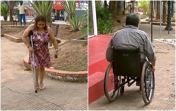 Deficientes enfrentam várias situações complicadas no dia a dia  (Foto: Bom Dia Amazônia)
