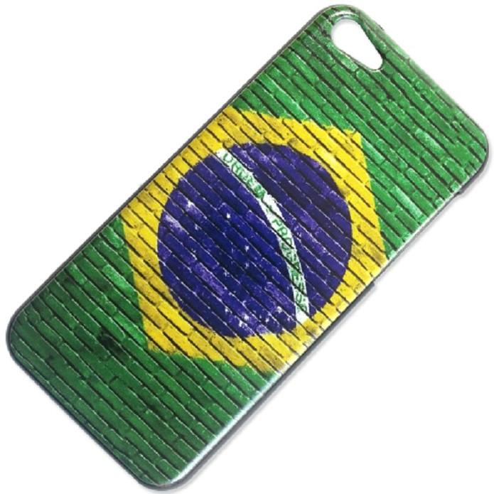 Capa com bandeira brasileira vem com textura que imitam tijolos (Foto: Divulgação)