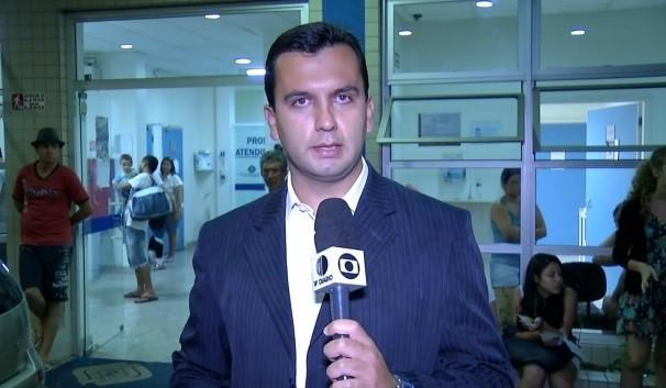 Repórter Everton Souza  (Foto: Reprodução / TV Diário)