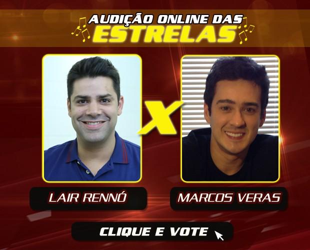 Lair Rennoó e Marcos Veras arte votação (Foto: The Voice Brasil/TV Globo)