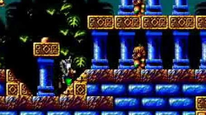 Fire & Ice trazia belos gráficos para o Master System apesar de ter sido projetado para o Game Gear (Foto: Reprodução/YouTube)