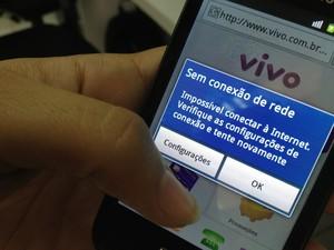 Falha no sinal da Vivo, em Roraima (Foto: Arquivo pessoal)