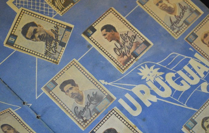 Uruguai Album Copa de 50 (Foto: Vinícius Bueno)