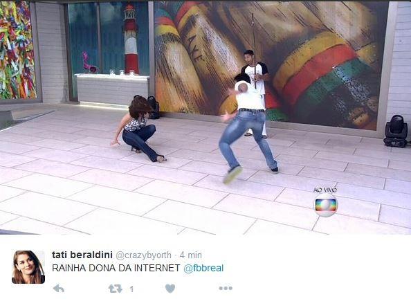 Comentários sobre o tombo de Fátima Bernardes (Foto: Reprodução/Twitter)