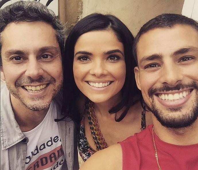 Êêê felicidade!! Alexandre Nero, Vanessa Giácomo e Cauã Reymond abrem o sorrisão  (Foto: Arquivo Pessoal)