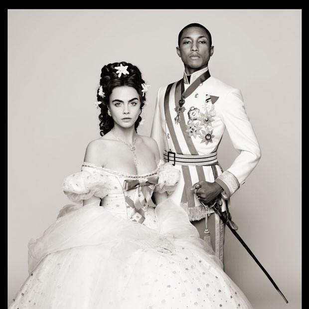 Chanel lança curta estrelado por Pharrell Williams e Cara Delevingne