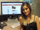 Melina Castro G1 SC (Foto: Valéria Martins/RBS TV SC)