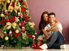 Carol Nakamura e Sidney Sampaio mostram sua árvore de Natal