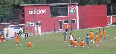 Fluminense treina pênaltis nas Laranjeiras (Foto: Richard Souza/GloboEsporte.com)