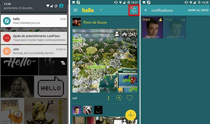 Hello mostra quem visitou seu perfil assim como o Orkut (Foto: Reprodução/Elson de Souza)