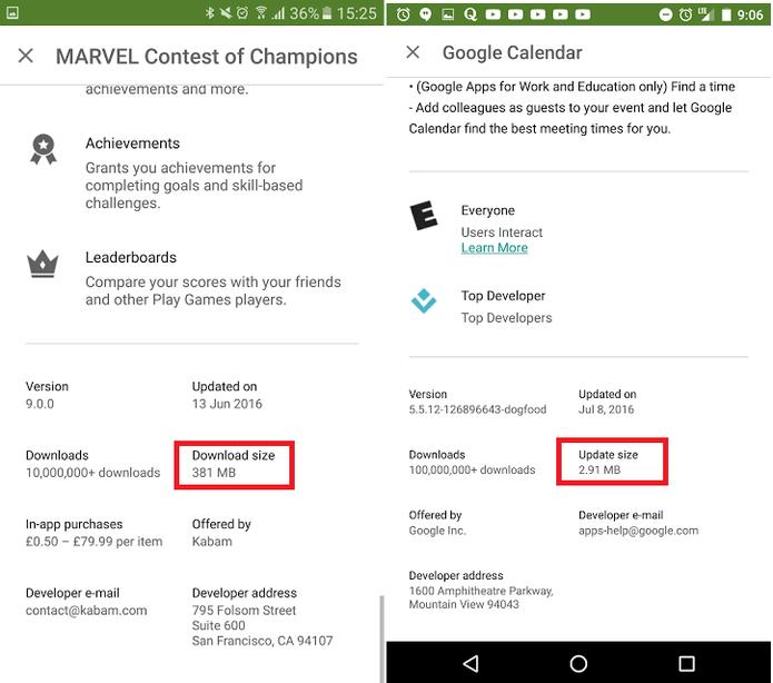 Prints indicam novas informações sobre downloads e atualizações (Foto: Reprodução/Android Developers Blog)