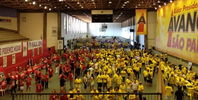 Eleição Conselho São Paulo (Foto: Felipe Zito/GloboEsporte.com)