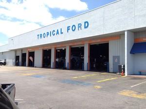 Concessionária da Ford nos EUA (Foto: Denis Marum/G1)
