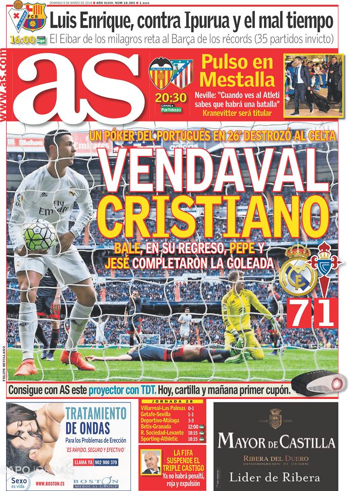 Cristiano Ronaldo capa AS