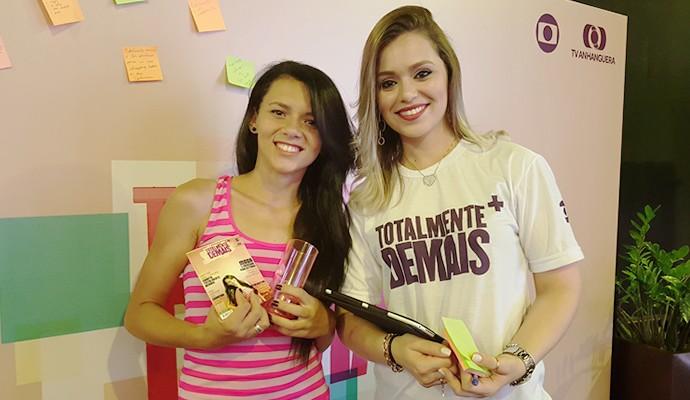 TV Anhanguera ofereceu espaço 'Totalmente Demais' ao público. (Foto: TV Anhanguera)