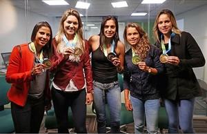 seleção feminina na CBF (Foto: Divulgação CBF)