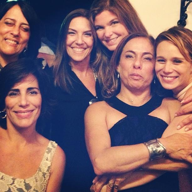 Glória Pires, Cristiana Oliveira, Cissa Guimarães e Mariana Ximenes no aniversário de Orlando Morais (Foto: Instagram/ Reprodução)