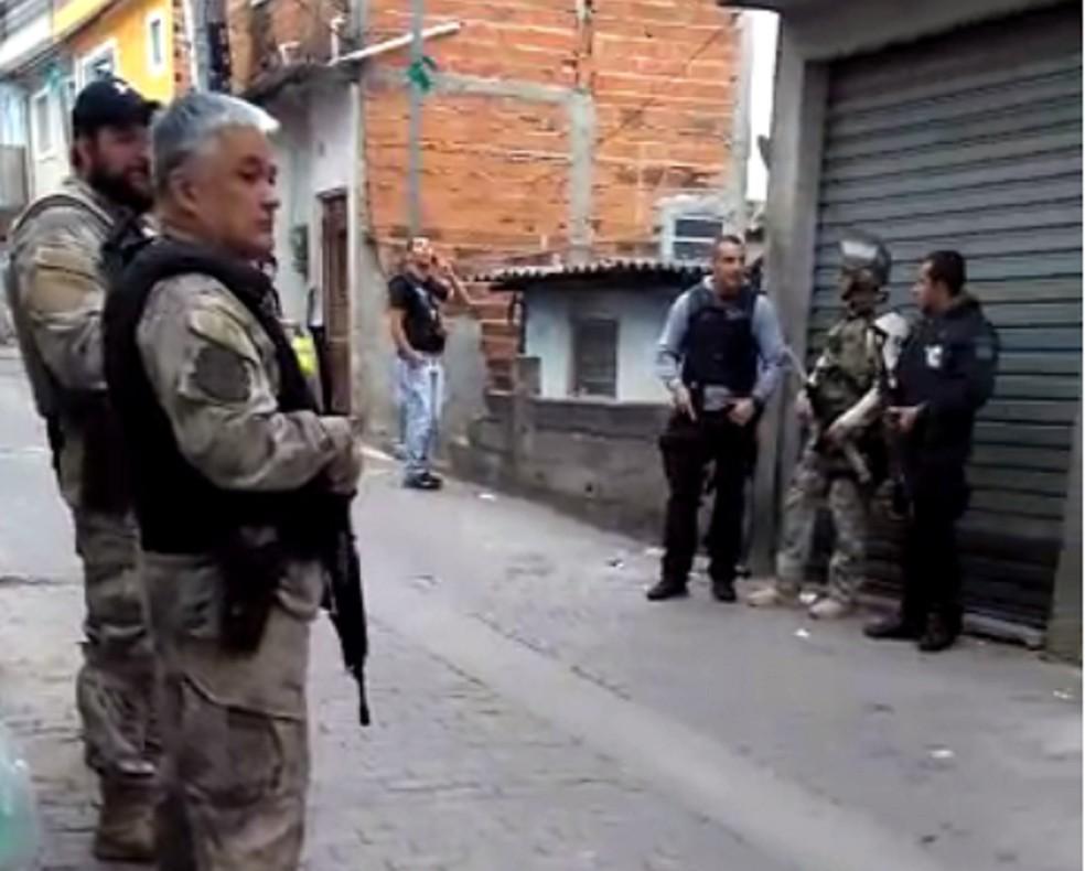 Favela na Zona Norte de São Paulo foi ocupada pela Polícia Civil (Foto: Divulgação/Polícia Civil)