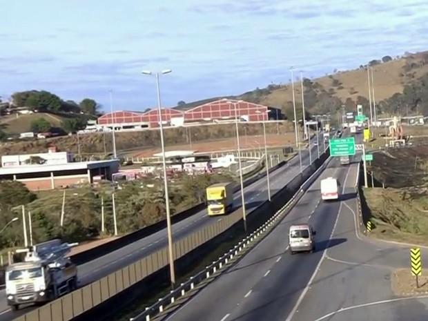 Rodovia, Fernão Dias, BR-381, Sul de Minas, Varginha (Foto: Reprodução/ EPTV)