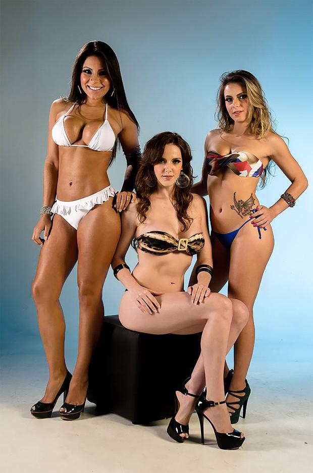 Andressa Olliver, Marianne Ranieri e Caroline Redivo (Foto: Nelson Miranda / Divulgação)