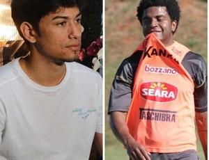 Lucca e Nirley, novos jogadores do Cruzeiro (Foto: Montagem / Globoesporte.com)