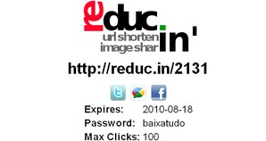 URL encurtada Reduc.in