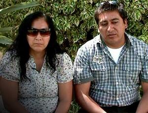 Pais de Kevin Espada, Carola Beltrán Espada e Limbert Beltrán  (Foto: Reprodução / SporTV)