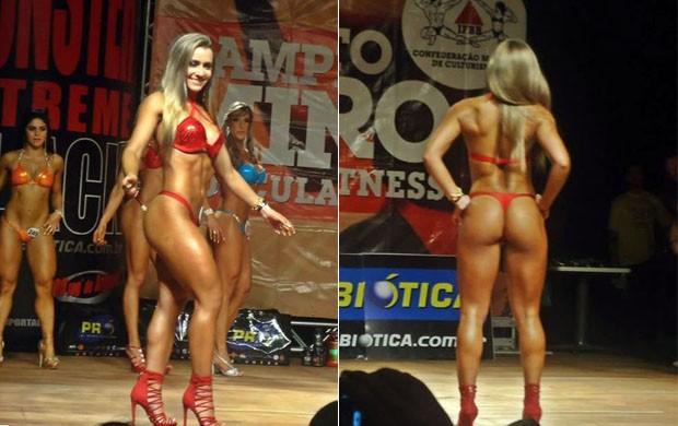Mariane Reis venceu categoria em torneio estadual de body building pela IFBB (Foto: Arquivo pessoal)