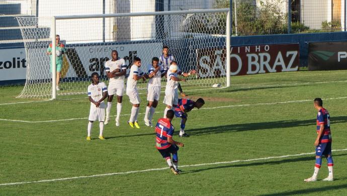 Fortaleza x Tiradentes Taça Fares Lopes Alcides Santos gol (Foto: Roberto Leite)