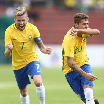 Matheus Sávio e Caio Henrique seleção sub-20 (Foto: Lucas Figueiredo / CBF)