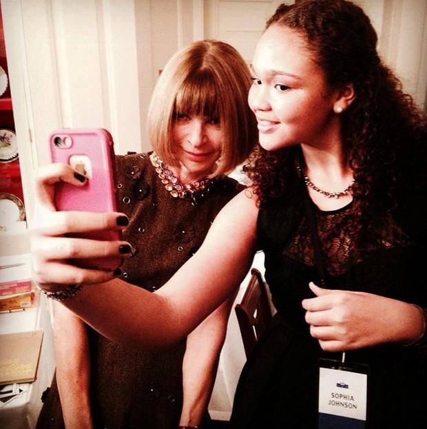 Anna Wintour e Sophia Johnson (Foto:  )