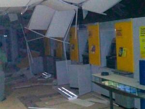 Banco explodido em Ibititá (Foto: Márcio Antonio Carvalho/Arquivo Pessoal)