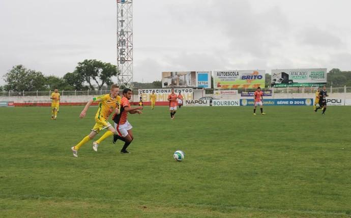 O Canarinho conseguiu a vaga ao vencer o Vila Miranda, que acabou rebaixado, por 2 a 0 (Foto: Bruno Zanette / Assessoria de Imprensa)