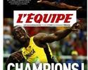 Usain Bolt e Simone Biles, os campeões dos campeões pelo L'Equipe