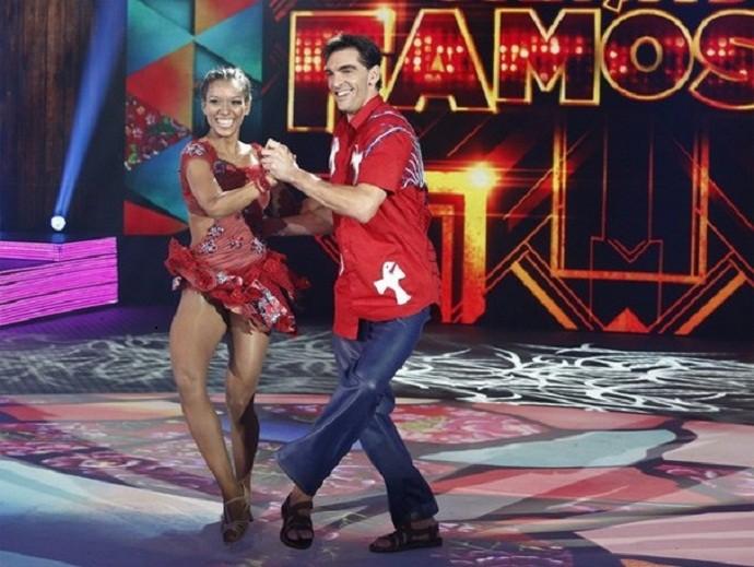 Giba do vôlei, um dos destaques do Dança em 2014 (Foto: Fábio Rocha/TV Globo)