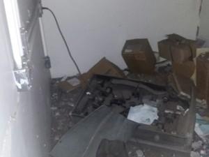 Criminosos usaram explosivos durante a ação criminosa (Foto: Divulgação/Polícia Militar)